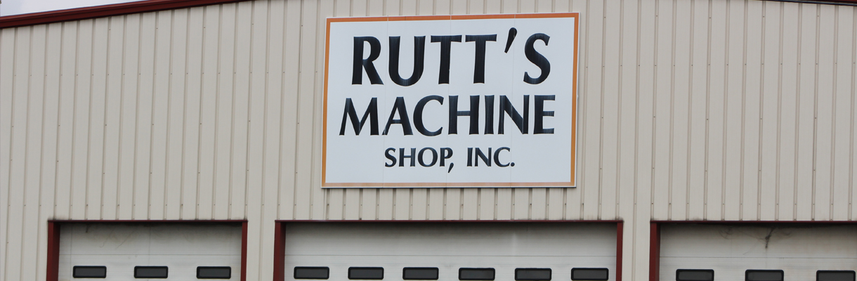 The Rutt's Machine Shop, Inc. sign